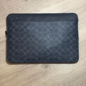 "Coach Men's 15"" Laptop Case In Signature canvas C"